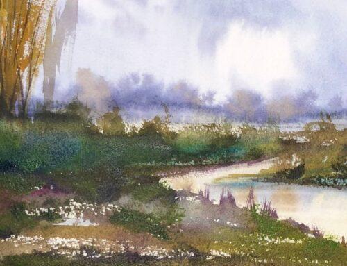 Poplars at An Imagined Stream: #1